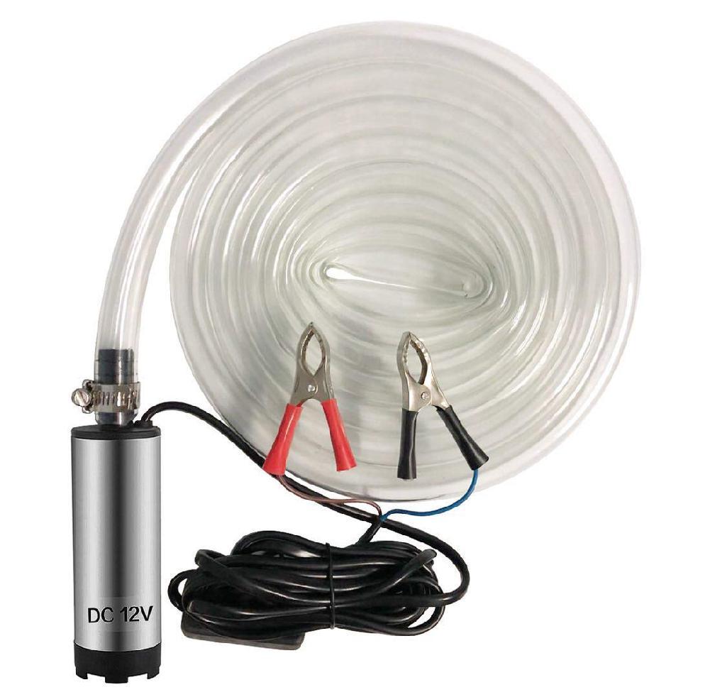 Bomba sumergible eléctrica de 12V CC, bomba sumergible de acero inoxidable para agua, aceite diésel