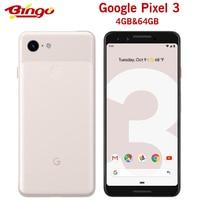 Google Pixel 3 oryginalny telefon komórkowy 4G LTE Android Octa core 5.5 ''12.2MP i podwójny 8MP linii papilarnych NFC