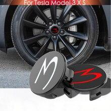 FOR TESLA MODEL X S 3 Car Styling Auto Accessories 56MM 58MM Badge Wheel Center Cap Cover Emblem Wheel Hub Cover Center Cap Rims