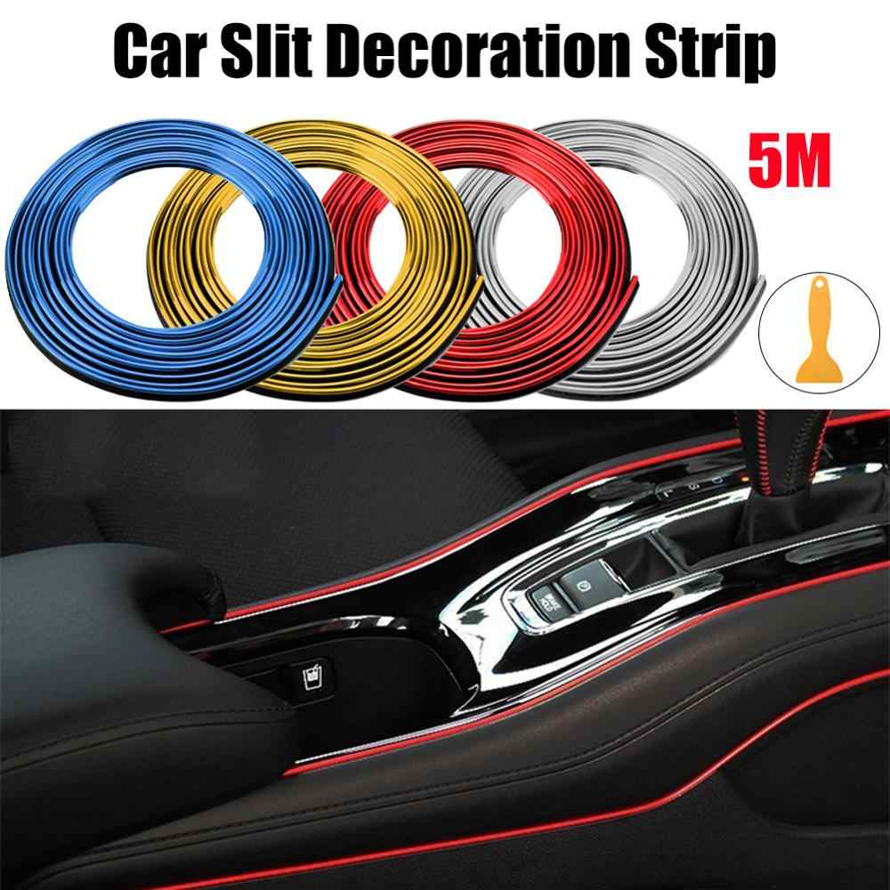 Super Flessibile 5M Car Interior Moulding Trim Striscia Porta Gap Bordo Stampaggio Trim Universale Linea Decorativa Auto Accessorie CSV