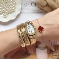Neue Frauen Luxus Marke Uhr Schlange Quarz Damen Gold Uhr Diamant Armbanduhr Weibliche Mode Armband Uhren Uhr reloj mujer
