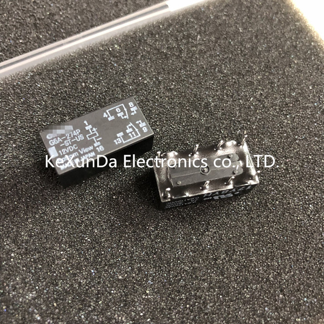 G6A 274P ST US 12VDC Originele G6A 274P DC12VDC 100 stks/partij GRATIS VERZENDING