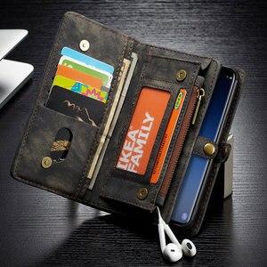 Image 4 - Caseme 고급 가죽 케이스 삼성 갤럭시 S8 S9 S10 S20 Plus A70 A50 A40 참고 10 참고 20 울트라 플립 자석 지갑 전화 커버