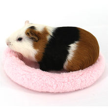 Gabbia Del Criceto di Inverno Morbido Pile Guinea Pig Furetto Letto Piccola Gabbia per Animali Mini Zerbino Criceto Rat Sleeping Bed Criceto Accessori(China)