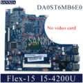 KEFU DA0ST6MB6E0 Laptop płyta główna dla lenovo Flex-15 oryginalne płyty głównej płyta główna I5-4200U
