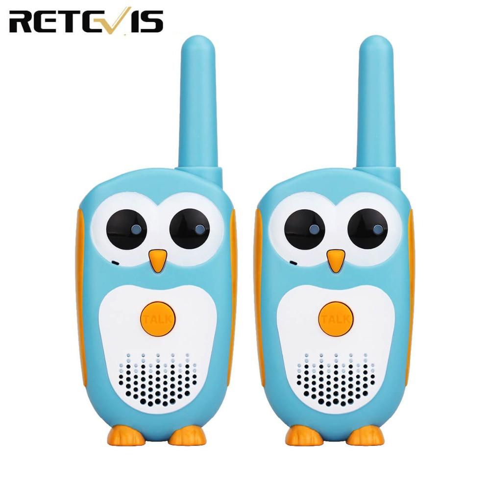 2pcs Retevis RT30 Cute Cartoon Owl Walkie Talkie Kids Mini Portable Children Radio 0.5W 1CH FRS/PMR PMR446 2 Way Radio Toy Gift
