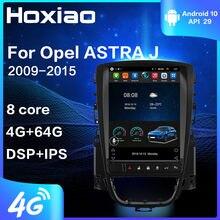 Автомагнитола, мультимедийный видеоплеер для Opel ASTRA J 2009, 2010, 2011, 2012, 2013, 2014, 2015, GPS-навигация, 2 din, 4G, Android 9,0