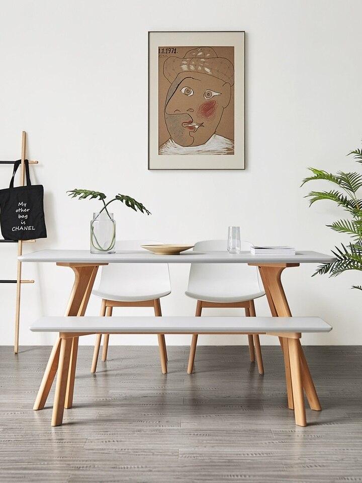 10 Set Paket Desain Modern Meja Makan Dan Bench Meja Makan Aliexpress