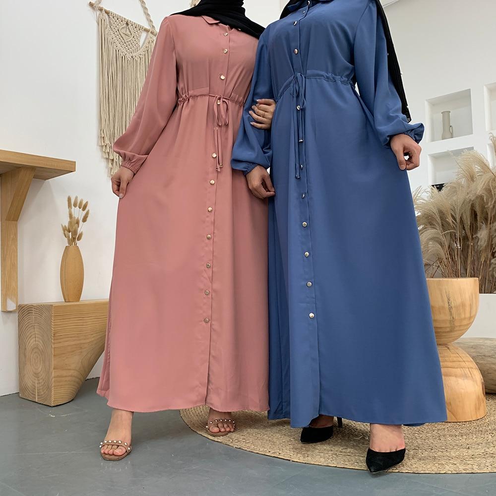 Aid Mubarek Muslim Fashion Dubai Abaya Turkey Hijab Summer Dress Kaftan Caftan Islam Clothing For Women Robe Femme Ete Vestidos(China)