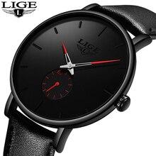 2019 moda Silple cienki zegarek dla mężczyzn zegarki Top marka luksusowy mężczyzna dorywczo skórzany wodoodporny zegar kwarcowy Relogio Masculino
