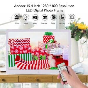 Image 4 - Andoer 15,4 Inch 1280*800 светодиодный цифровая фоторамка рамки 1080P HD видео игры с пультом дистанционного управления Управление музыка кино электронная книга