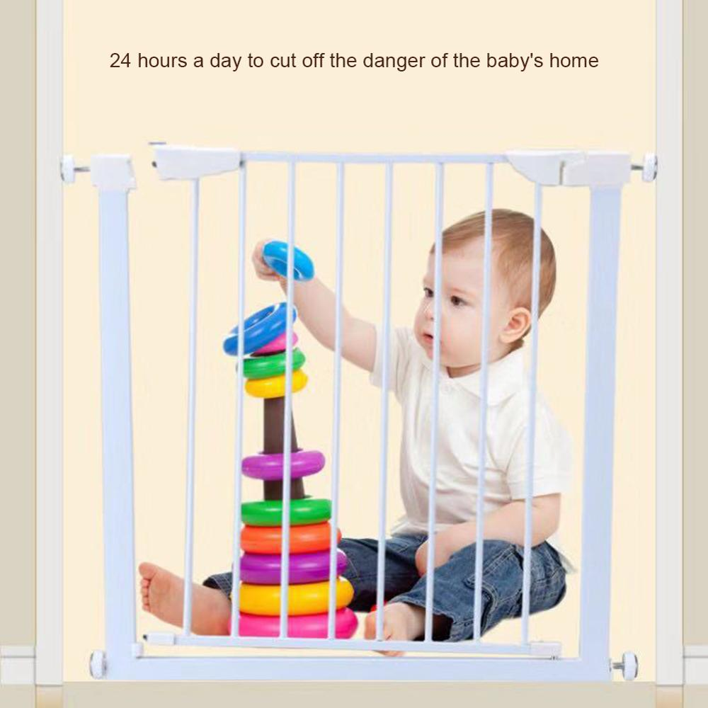 Easy Locking System Kids Baby Toddler Walk Through Safety Gate Door New-WWO55