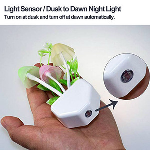 Image 3 - לילה אור 7 צבע שינוי חשכה לשחר חיישן LED לילה אורות פרח פטריות מנורת שינה Babyroom מנורות לילדים מתנות