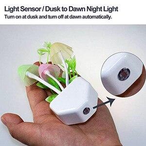 Image 3 - 夜の光 7 変色夕暮れにセンサー Led ナイトライト花キノコランプの寝室 Babyroom のためのランプギフト