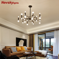 Ceiling chandelier living room lighting glass lampshades metal black chandelier gold pendant lamp bedroom led kitchen Fixtures