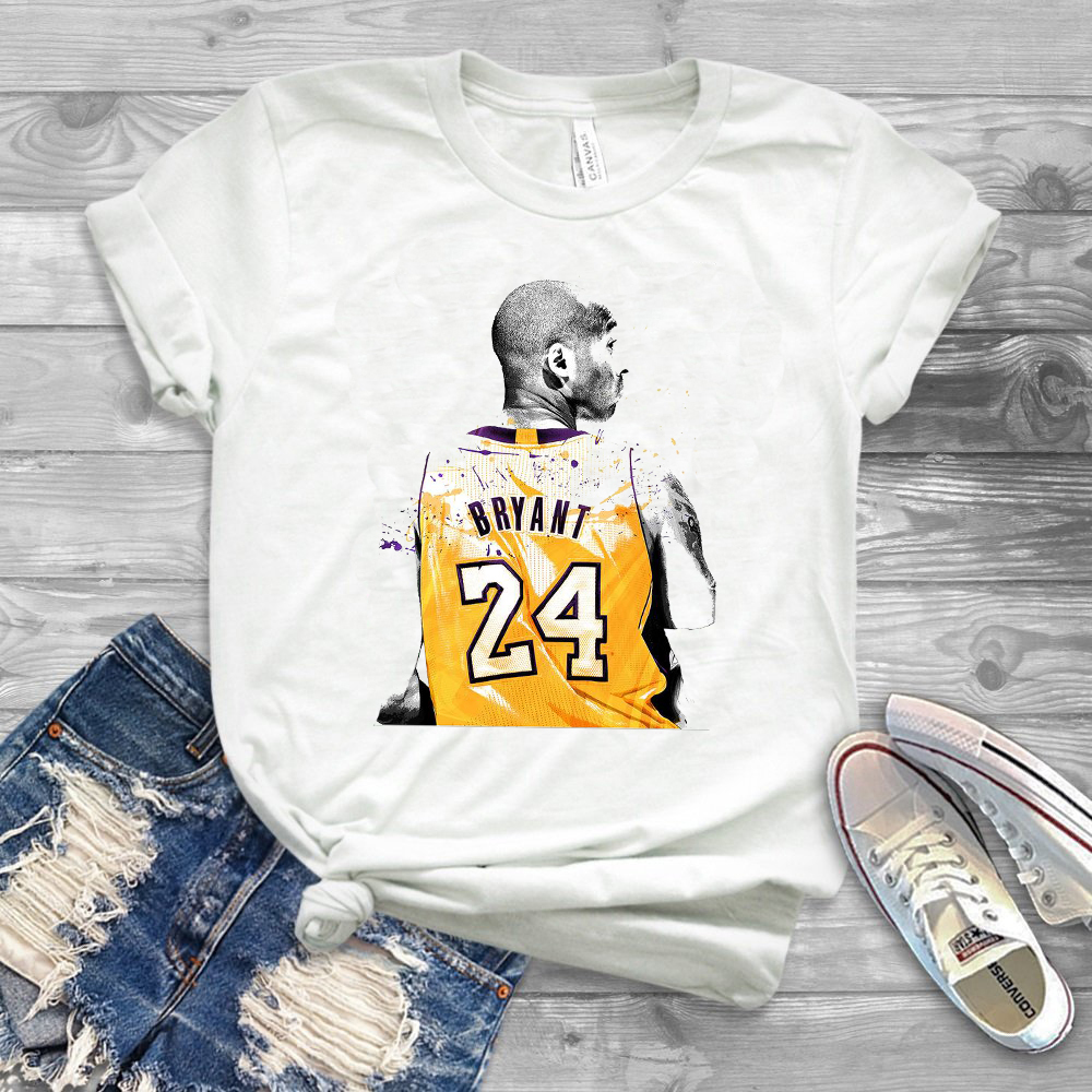 MAILED PRINTS Art Print Shirt  Basketball Poster Sports Kobe Basketball T Shirt Mamba Out Tee 2020