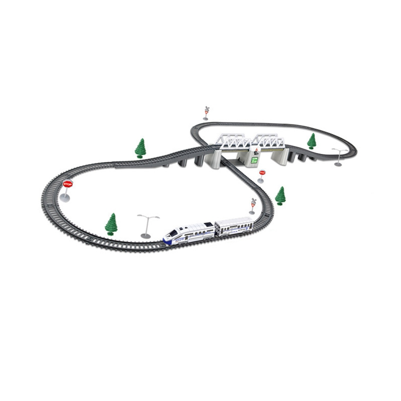 Kids Rc Trains Model Electric Train Set Trains Children's Railway Set Train Toy Electric High-Speed Railway Toys for Kids