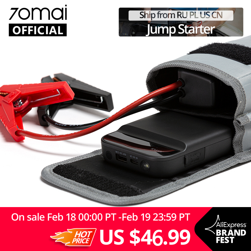 70mai Jump-Starter Vehicle LED Mobiles Real-11000mah-Power SOS for 40-Times Illumination title=