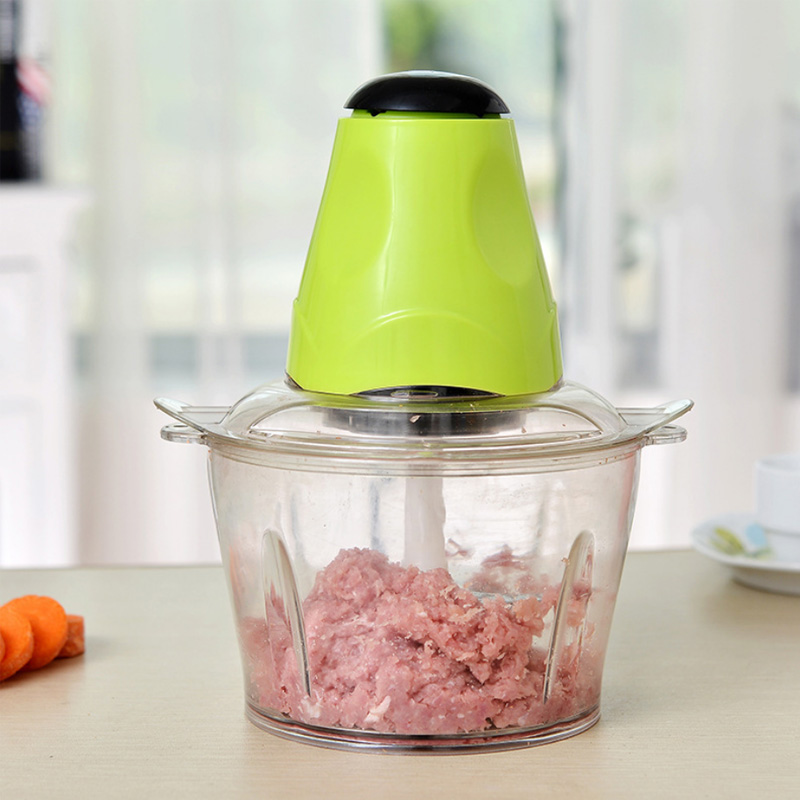 2L Electric Chopper Kitchen Blender Stainless Steel Household Food Processor Multifunctional Household Processor Meat Grinder