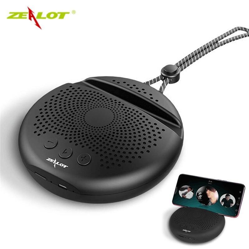 Zèle S24 haut-parleur bluetooth sans fil HiFi basse lourde TF carte FM Radio mains libres bluetooth 5.0 Subwoofer avec support pour téléphone Mini