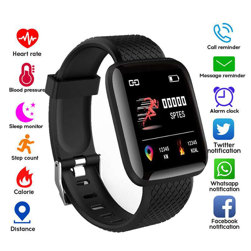 116 Plus Smart Watch Bracelet Sport Fitness Blood Pressure Heart Rate Call Message Reminder Pedometer D13 Smart Watch Z2 11Xplus