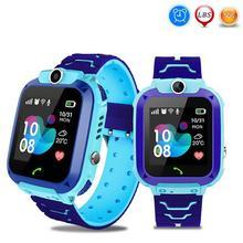 1.44 인치 터치 스크린 키즈 지능형 시계 방수 LBS 위치 추적기 어린이 스마트 말하는 시계 Setracker2