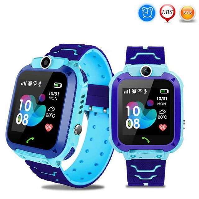 ساعة ذكية للأطفال بشاشة لمس 1.44 بوصة مقاومة للمياه مع خاصية تتبع المواقع للأطفال ساعة ذكية للتحدث من أجل Setracker2