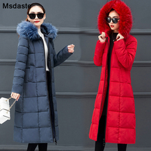Long Warm Coats Women 2019 Winter Fashion Fur Hooded Jackets Plus Size M~4XL Female Jacket Thickening Garments Parka