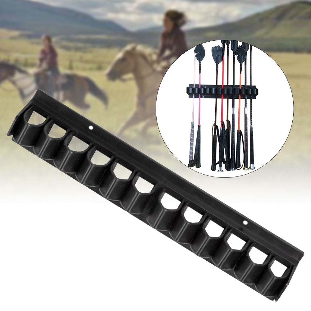 For Horse Stables Accessories Whip Rack Crop Holder Wall Mounted Organizer Holds 11 Tack Room Equipment Storage Hanger Floats