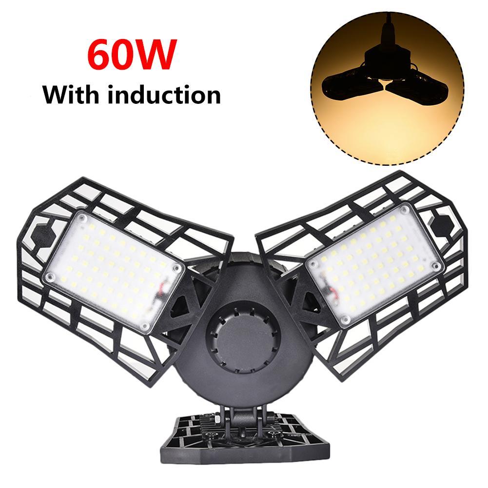 Industrial Lighting 60W LED Garage Light  AC 85-265V Ceiling Light Waterproof IP65 LED High Bay Lighting E27 E26 For Warehouses