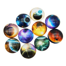 Wholesale Planet Stars Design Glass Cabochon Demo Mix Space Theme Flatback Cameo For Jewelry Craft Making Findings 8 -30mm