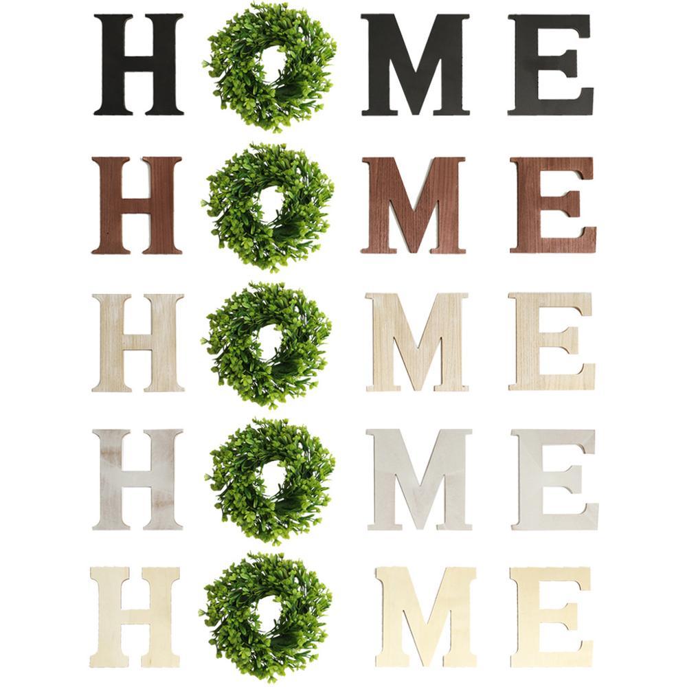 Деревянные буквы «Home» для рукоделия, незавершенные буквы алфавита без надписи «сделай сам» для дома и украшения стен