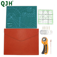 15Pcs Sewing Kit Set Clothing Sewing Tools Hand Cutting Knife Set Patchwork Cloth Knife Patchwork Ruler DIY Sewing Leather Folde