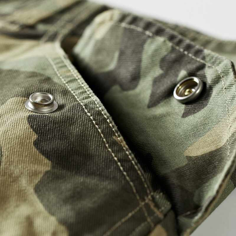 New Summer Mens Cotton Cargo Camouflage Pockets Beach Short Pants Loose Casual Trousers Male Knee Length Shorts Homme