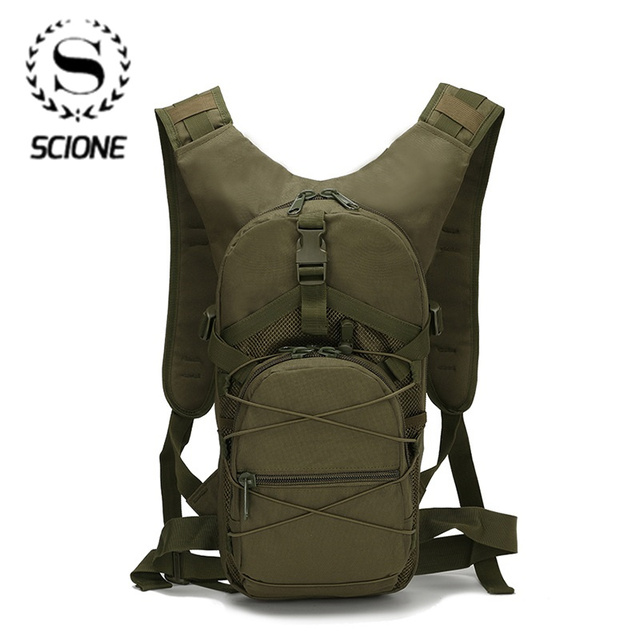 Scione Outside Military Army Green Backpack Waterproof Oxford Casual Camouflage Travel Bag Womens Traveling Backpack Bag