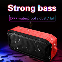 Wireless Bluetooth Speaker Portable Column Outdoor Waterproof Speaker with FM Radio Support USB AUX TF Stereo Music Box Speakers(China)