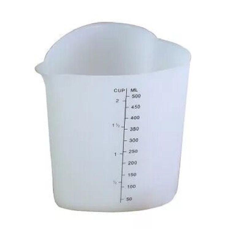 500ML Reusable Flexible Silicone Measuring Cup Cooks Bakers Resin Jewelry Tools