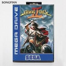 16 bit MD Speicher Karte Mit Box für Sega Mega Drive für Genesis Megadrive Glänzende Kraft 2 II