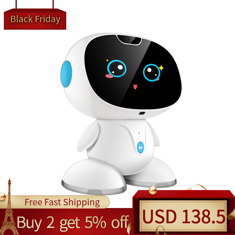 Children's Intelligent Robot Early Childhood Dialogue High-tech Toy Story Machine Video Surveillance Chat Kids Christmas Gifts
