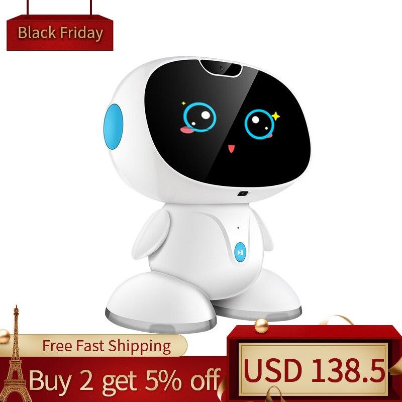 Детский умный робот для раннего детства, для общения, высокотехнологичная игрушка, история, машина, видео наблюдение, чат, детские рождестве