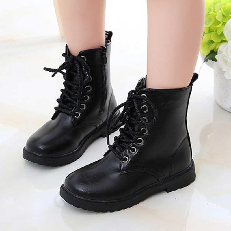 diseño superior lindo barato distribuidor mayorista Botas para niños zapatos altos de entrenamiento militar para niños ...