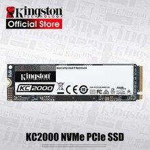 Kingston disco duro interno de estado sólido, KC2000, 250G, 500G, 1TB, M.2, 2280 SSD, para escritorio, estación de trabajo y Uds de alto rendimiento
