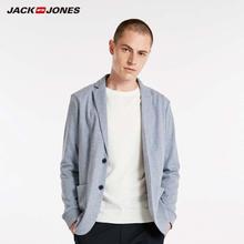 Jackjones básico masculino algodão & linho fino ajuste blazer longo mangas compridas terno jaqueta nova marca masculina 218308505