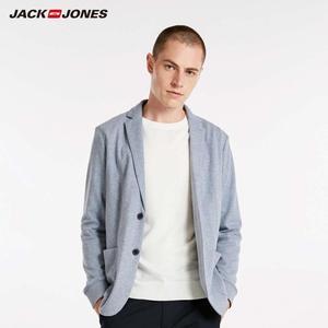 Image 1 - Jackjones básico masculino algodão & linho fino ajuste blazer longo mangas compridas terno jaqueta nova marca masculina 218308505