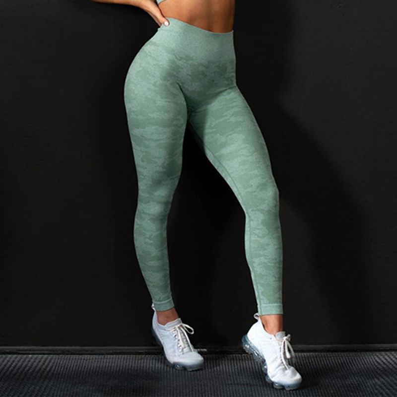 2020 High Waist Breathable Stretch Pants Workout Push Up Female Jeggings Fitness Camouflage Elastic Leggings Mujer