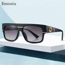 플랫 탑 클래식 스퀘어 선글라스 남자 브랜드 디자이너 패션 여성 블랙 그라데이션 선글라스 쉐이드 UV400 gafas de sol mujer