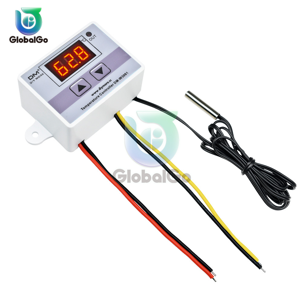 <font><b>XH</b></font> <font><b>W3001</b></font> W3002 W3230 Temperature Controller 12V 24V 220V Digital LED Thermometer Thermo Controller Switch Probe Max 10A NTC10K image