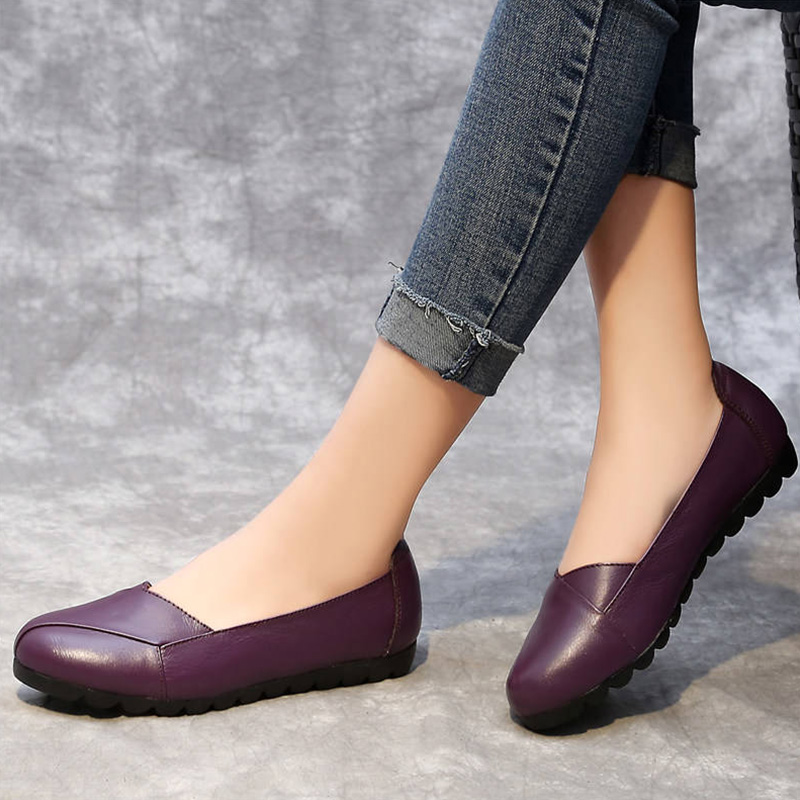 Soft luxury brand superstar flats women autumn 2019 new arrival comforthable genuine leather ladies flats espadrilles