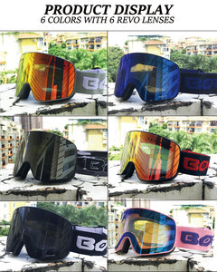 Image 2 - Kayak gözlüğü manyetik çift katmanlı polarize Lens kayak anti sis UV400 snowboard gözlük erkekler kadınlar kayak gözlüğü gözlük