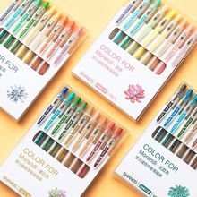 9 Colors/set Vintage Morandi Gel Pen Creative DIY Bullet Journal Drawing Graffiti Kawaii Office Stationery School Supplies
